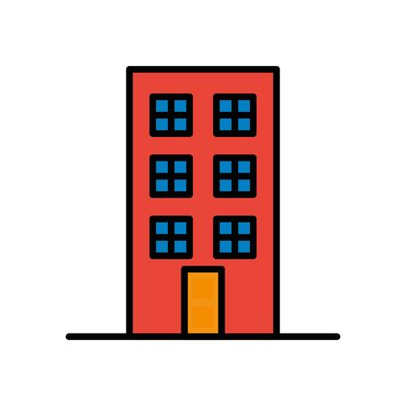 building front facade isolated icon vector illustration design