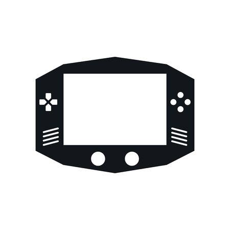 video game portable device icon vector illustration design