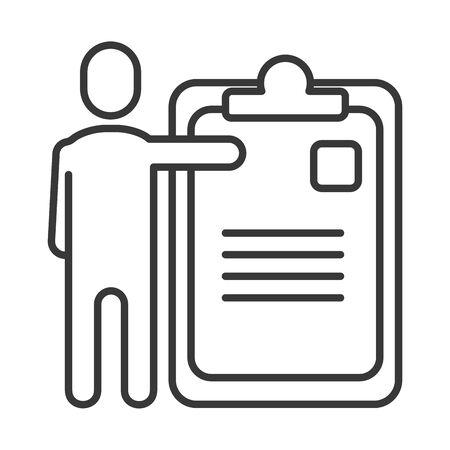 avatar businessman silhouette with checklist vector illustration design