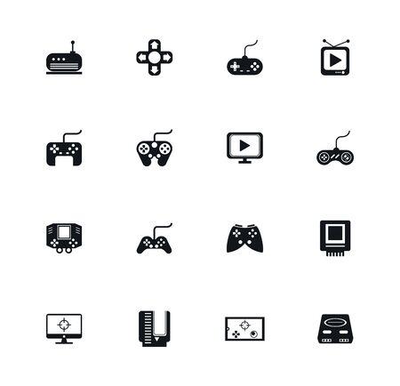 bundle of video game icons vector illustration design