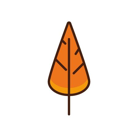 thanksgiving leaf plant autumn icon vector illustration design