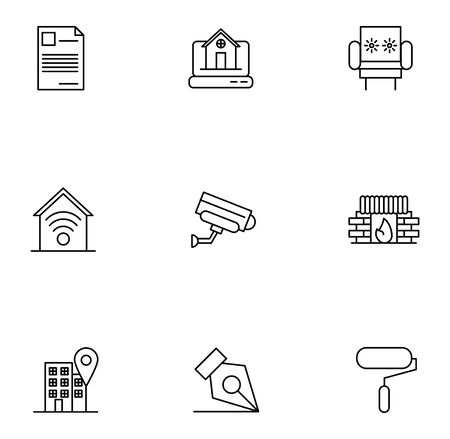 bundle of real estate set icons vector illustration design Archivio Fotografico - 138197530
