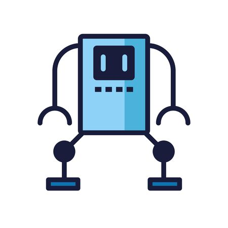 humanoid robot cyborg isolated icon vector illustration design
