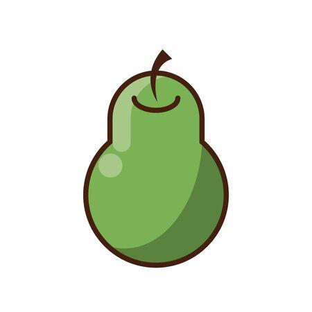 fresh pear fruit nature icon vector illustration design Foto de archivo - 138223526