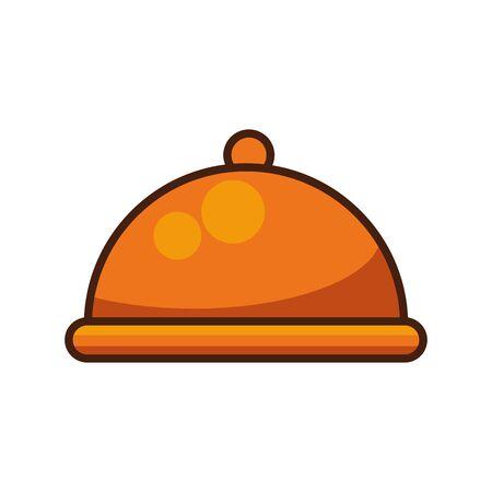 tray server dish isolated icon vector illustration design