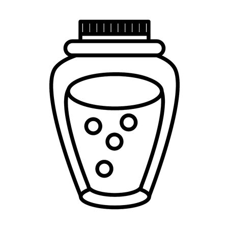 thanksgiving preserve jar isolated icon vector illustration design Çizim