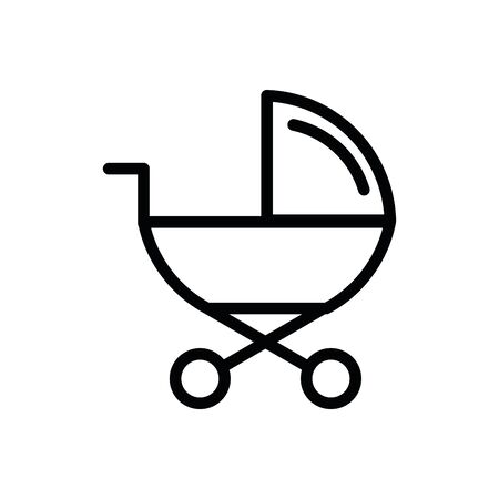 cute baby cart isolated icon vector illustration design