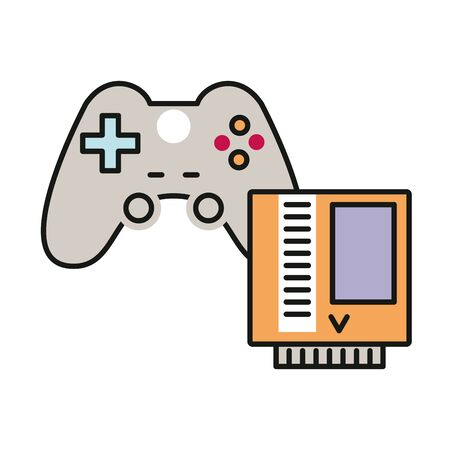 video game control and tape vector illustration design Illusztráció