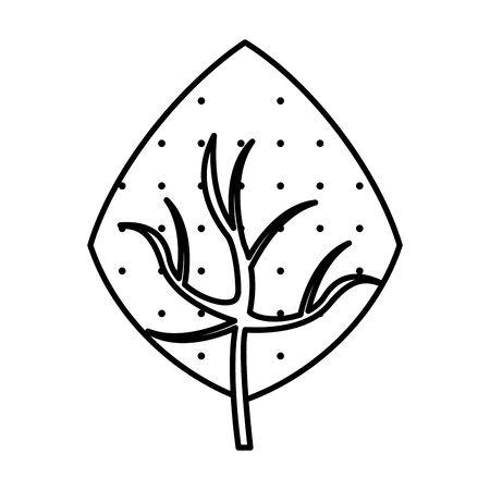 autumn leaf plant nature icon vector illustration design Foto de archivo - 138287404