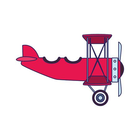 light aircraft icon over white background, colorful design, vector illustration
