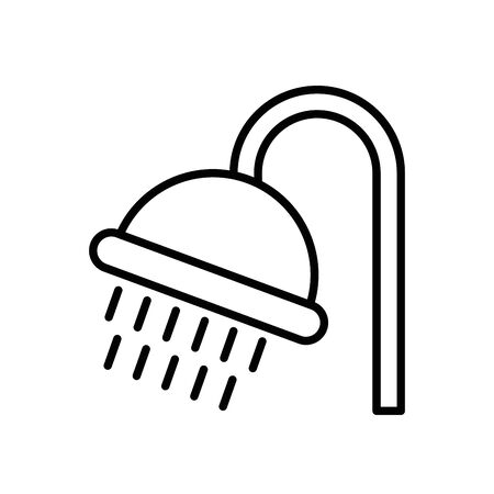 shower tap house accessory icon vector illustration design Ilustrace