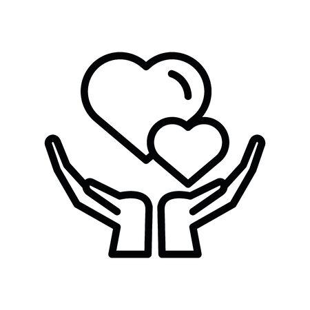 hands lifting happy valentines day hearts vector illustration design Çizim