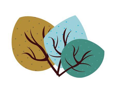autumn leafs plants nature icons vector illustration design Foto de archivo - 138287191