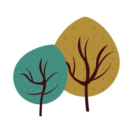 autumn leafs plants nature icons vector illustration design Foto de archivo - 138286260