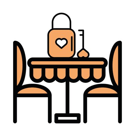 table with chairs dinning icon vector illustration design Foto de archivo - 138286353