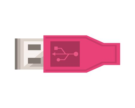 usb wire connector isolated icon vector illustration design Ilustracja