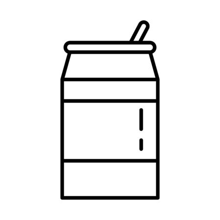 beverage can with straw icon vector illustration design