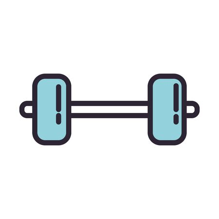 dumbbell weight lifting accessory icon vector illustration design Ilustrace