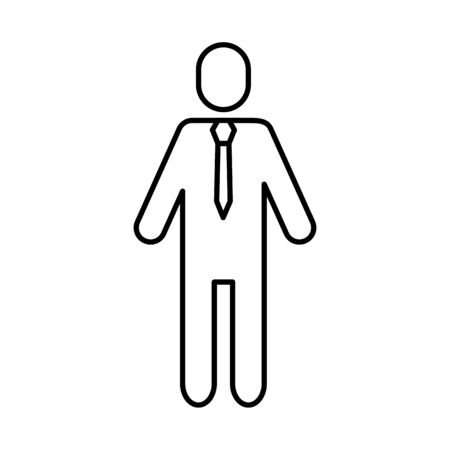 avatar businessman silhouette isolated icon vector illustration design