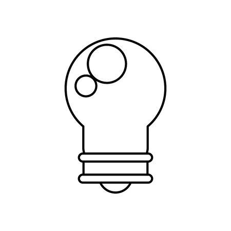 bulb light energy isolated icon vector illustration design Illusztráció