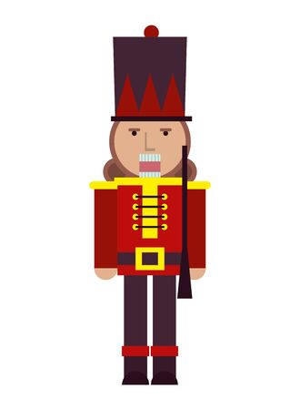 nutcraker soldier toy isolated icon vector illustration design