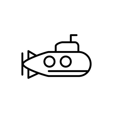submarine underwater transport linear design vector illustration