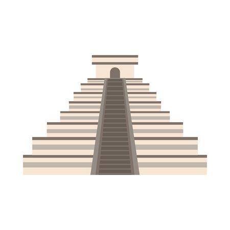pyramid mayan mexican culture icon vector illustration design