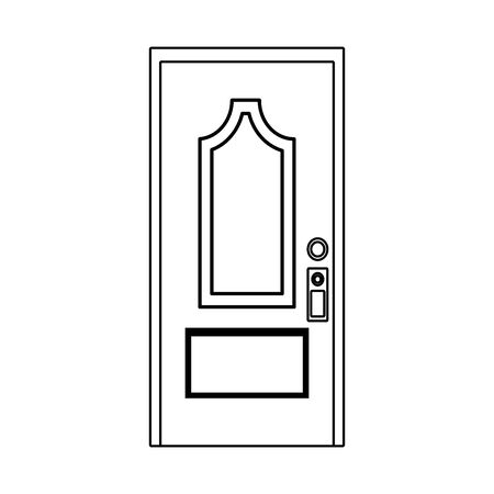house door icon over white background, vector illustration