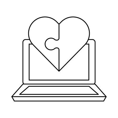 valentines day heart vector illustration design