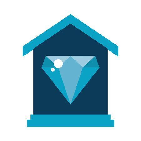 house facade with diamond luxury stone vector illustration design 일러스트