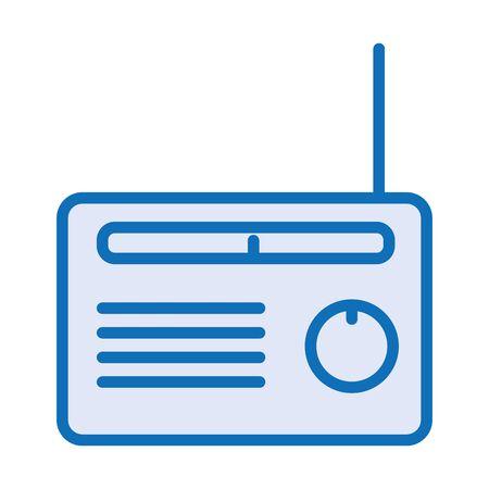 radio music player isolated icon vector illustration design Çizim