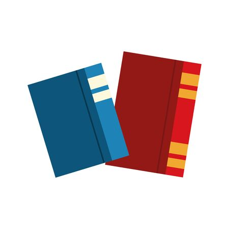academic books icon over white background, vector illustration