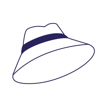 hat accessory icon over white background, vector illustration