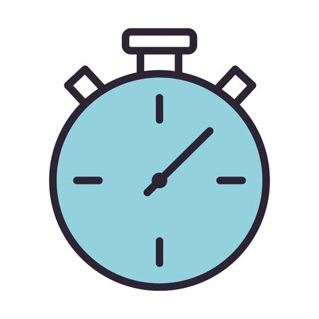 chronometer timer watch isolated icon vector illustration design