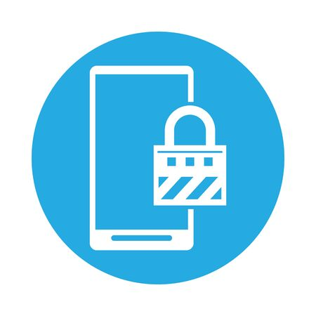 smartphone technology with padlock icon vector illustration design Ilustração