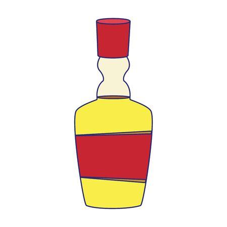 Tequila bottle design, Drink beverage liquid menu restaurant lunch and presentation theme Vector illustration Ilustrace