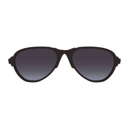 sunglasses accessory icon over white background, vector illustration
