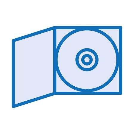 compact disk device isolated icon vector illustration design Illustration