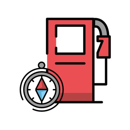 compass guide device with service station vector illustration design Stock Illustratie
