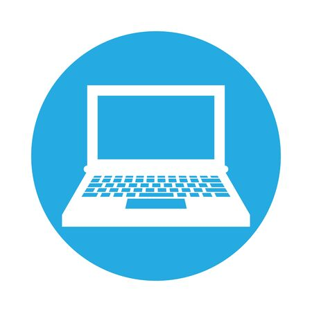 laptop computer portable isolated icon vector illustration design Ilustração