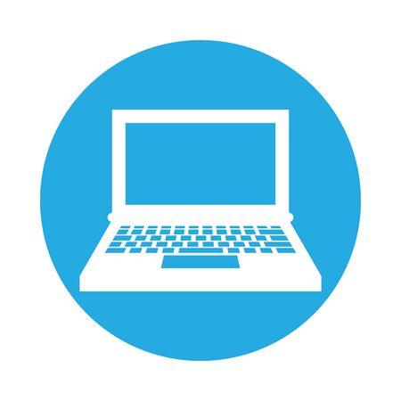 laptop computer portable isolated icon vector illustration design Illustration