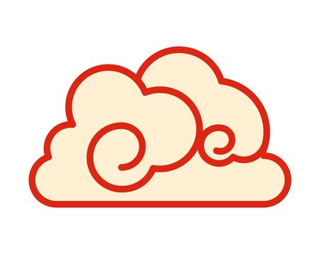 chinese cloud decorative isolated icon vector illustration design