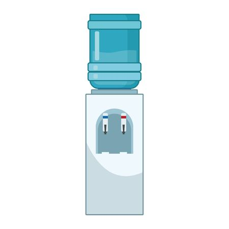 water bottle dispenser icon over white background, vector illustration
