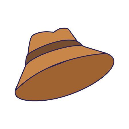 hat accessory icon over white background, vector illustration Ilustracja