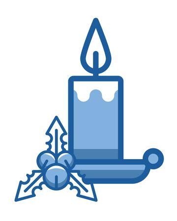 merry christmas candle isolated icon vector illustration design Ilustração