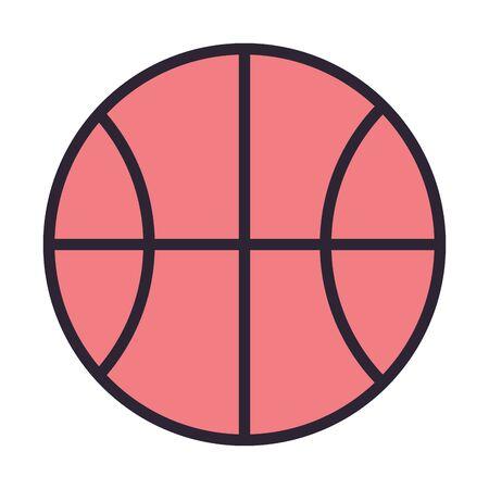 basketball balloon sport isolated icon vector illustration design Ilustracja