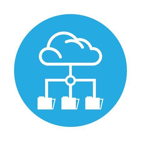 cloud computing data isolated icon vector illustration design