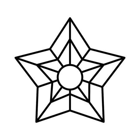 merry christmas decorative star icon vector illustration design Ilustração