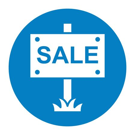 house sale label isolated icon vector illustration design
