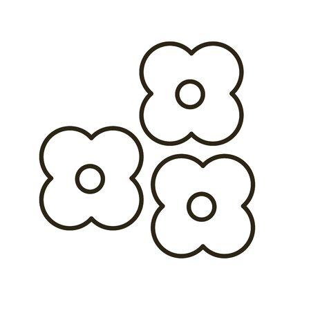 beautiful flower garden isolated icon vector illustration design